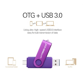512GB Hot Android/PC U-disk USB OTG SmartPhone Flash DriveHigh-speed Pendrive (Purple) - intl