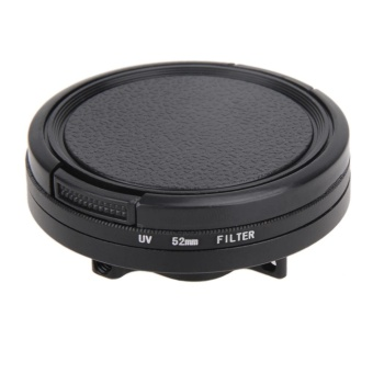 52mm UV CPL Filter for Go Pro Hero 5 Adapter Ring Glasses Lens -intl
