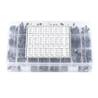 540pcs 24 Values Aluminum Electrolytic Capacitor Assorted Kit10V~50V 0.1uF to 1000uF - intl