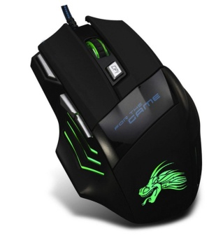 5500DPI 7 Button LED Optical USB Wired Gaming Mouse Mice For ProGamer - intl - 2