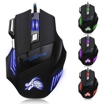 5500DPI 7 Button LED Optical USB Wired Gaming Mouse Mice For ProGamer - intl