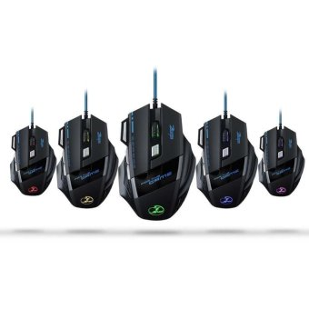 5500DPI 7 Buttons LED Game Mouse USB Wired Mice for Alienware Game PC Laptop