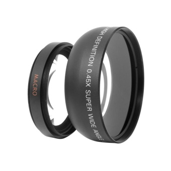 55mm 0.45x Wide Angle + Macro Conversion Lens For DSLR DC Camera -intl
