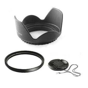 55mm 55 mm Flower Lens Hood +UV Filter +Lens Cap for for Sony18-
