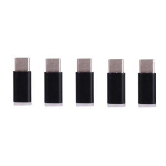 5pcs Micro USB Female to USB 3.1 Type C Male Adapter ChargerConverter Connector Black - intl