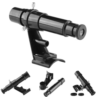 5x24 Finderscope Star Pointer Scope Astronomical TelescopeAccessory with Bracket Black - intl