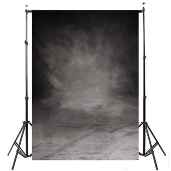 5x7FT Retro Grey Black Vinyl Studio Photo Backdrop Props Background