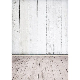 5x7ft Vinyl Cloth WHITE WOOD Photography Background Photo Backdrop for Studio - 4