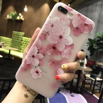 5XIAOHUO Fashionable painted embellished mobile phone Case Foriphone 7 Plus case Small fresh flowers For 7 Plus cover - intl
