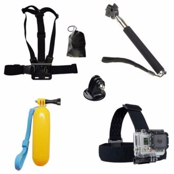 6 in 1 For Gopro Accessories Set Monopod for Go pro Float BobberChest Belt For Hero 4 Session 3 SJCAM SJ4000 Xiaomi yi EKEN H9 H9RCam - intl Price Philippines
