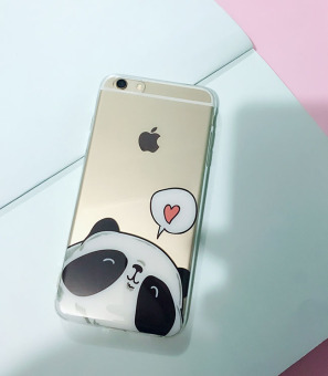 6 plus/iphone6 cute transparent all-inclusive soft case phone case