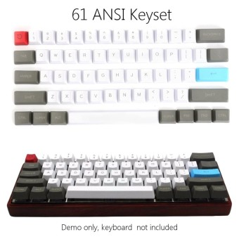 ... 61 Key ANSI Layout OEM Profile PBT Thick Keycaps for 60 Mechanical Keyboard intl