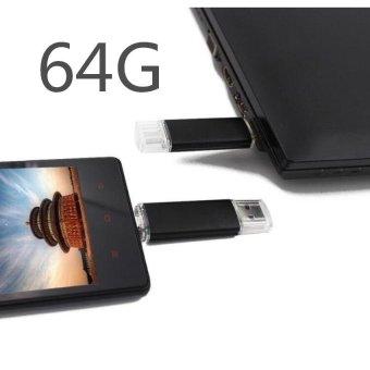 64G New OTG Dual USB Flash Memory Stick Pen Drive U Disk for Phone/PC - intl - 2