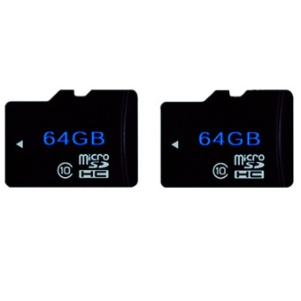 64GB Class 10 Flash Memory + Card Reader Set of 2