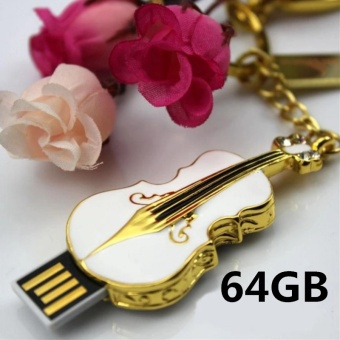 64GB USB 2.0 Crystal Violin Model Flash Memory Stick Storage Thumb Pen Drive - intl