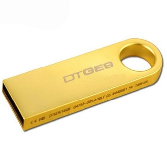 64GB USB 2.0 Flash Drive Metal Memory Stick Pen Key Storage Thumb U Disk (Gold)