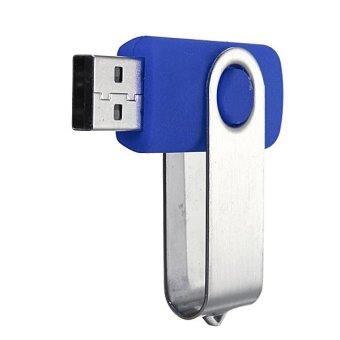 64GB USB 2.0 Foldable Flash Memory Stick Drive Data Storage Thumb (Blue) - 3