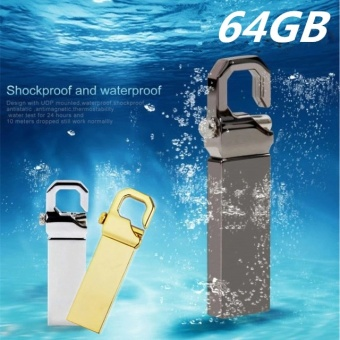 64GB USB 3.0 Hot Sale Waterproof Usb Flash Drive Mini Metal PenDrive Metal usb Flash Memory Stick-black - intl