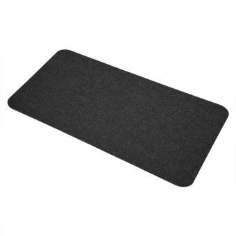 68x33cm Felts Table Mouse Pad Office Desk Laptop Mat Anti-static Computer PC Pads Dark Gray - intl - 3