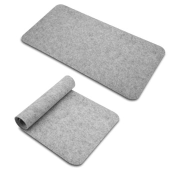 68x33cm Felts Table Mouse Pad Office Desk Laptop Mat Anti-static Computer PC Pads Dark Gray - intl - 5