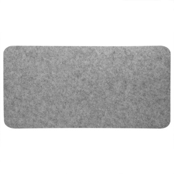 68x33cm Felts Table Mouse Pad Office Desk Laptop Mat Anti-staticComputer PC Pads (Light Gray) - intl