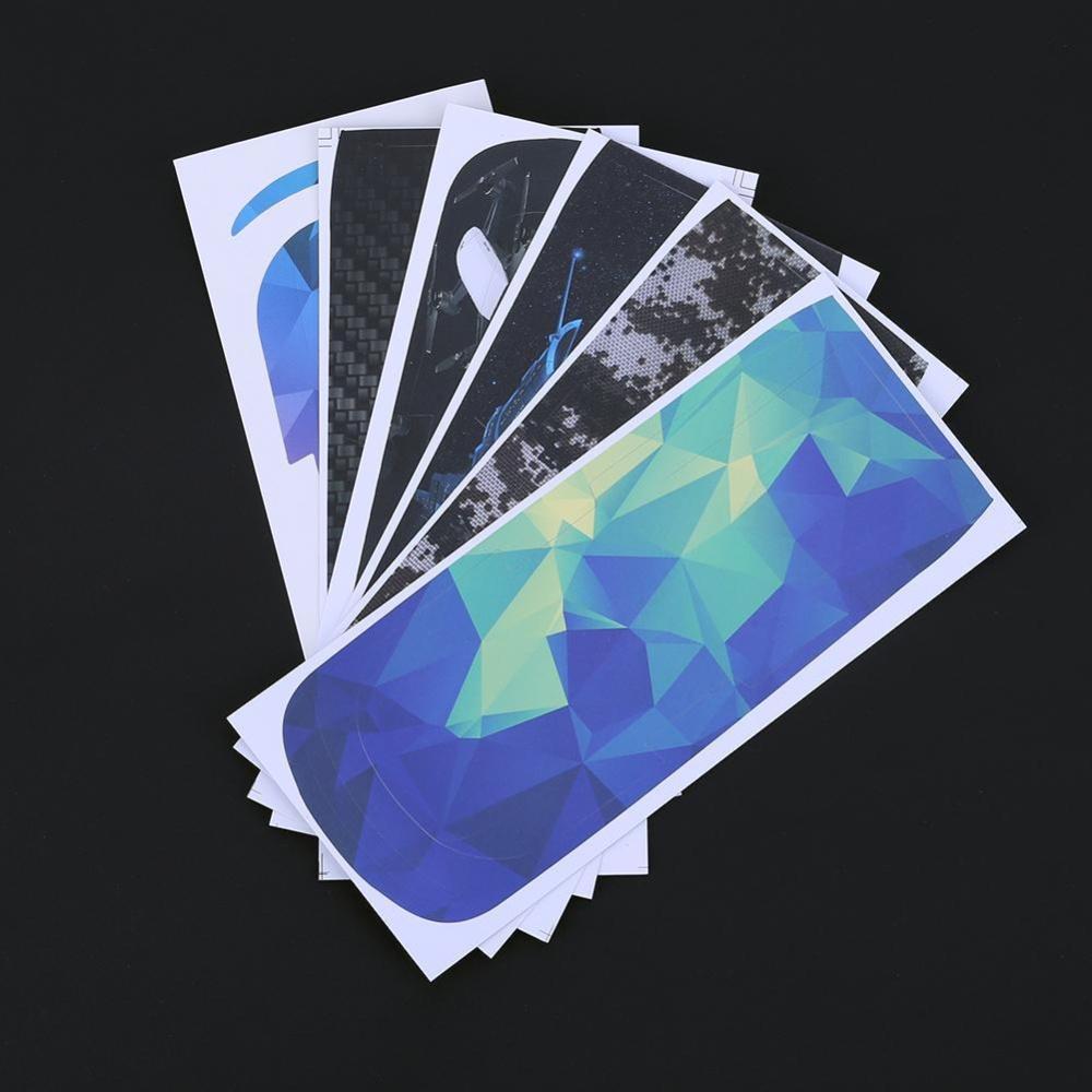 6pcs Waterproof Carbon Fiber Skin Wrap Stickers Decal for DJI Spark Drone - intl