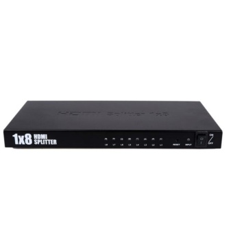 8 Port 1 In 8 Out 1x8 HDMI Splitter Audio Video 1080P For HD HDTV 3D DVD - intl