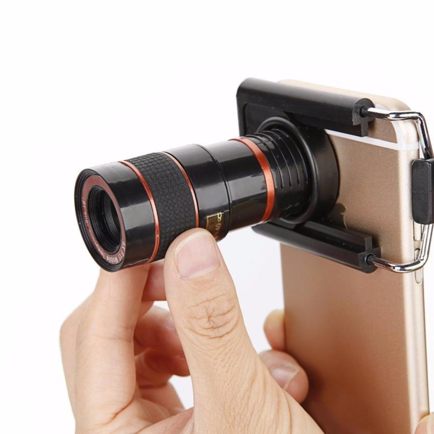 8 X Zoom Optical Lens Telescope + Universal Clip For Camera MobileCell Phone - intl