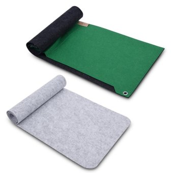 ... 80x30cm Felts Table Mouse Pad Office Desk Computer PC Pads DarkGray 1 layer intl
