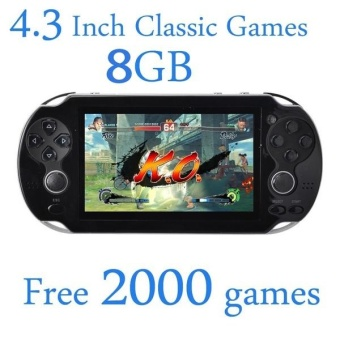 8GB Video Game Console Free 2000 Games 4.3 Inch MP4 MP5 PlayersHandheld Game Player (White) - intl Price Philippines