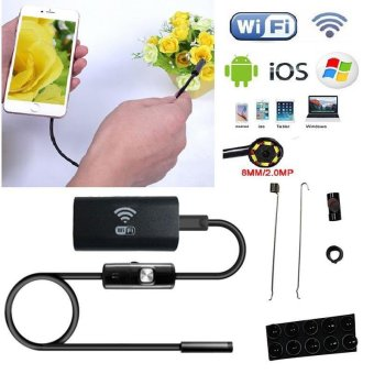 8mm WIFI Endoscope LED 3.5m Hard Cable Tube 1.0MP Camera For iPhone iOS Android - intl - 3
