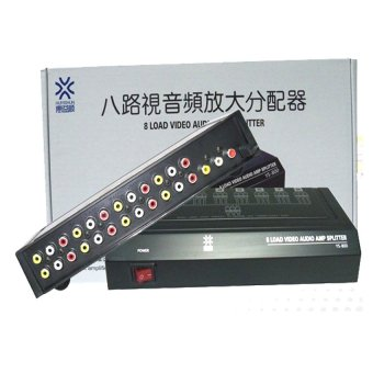 8Way 1 In 8 Out RCA Video Audio AV Amplifier Splitter 8ports HDTVDVD VCD