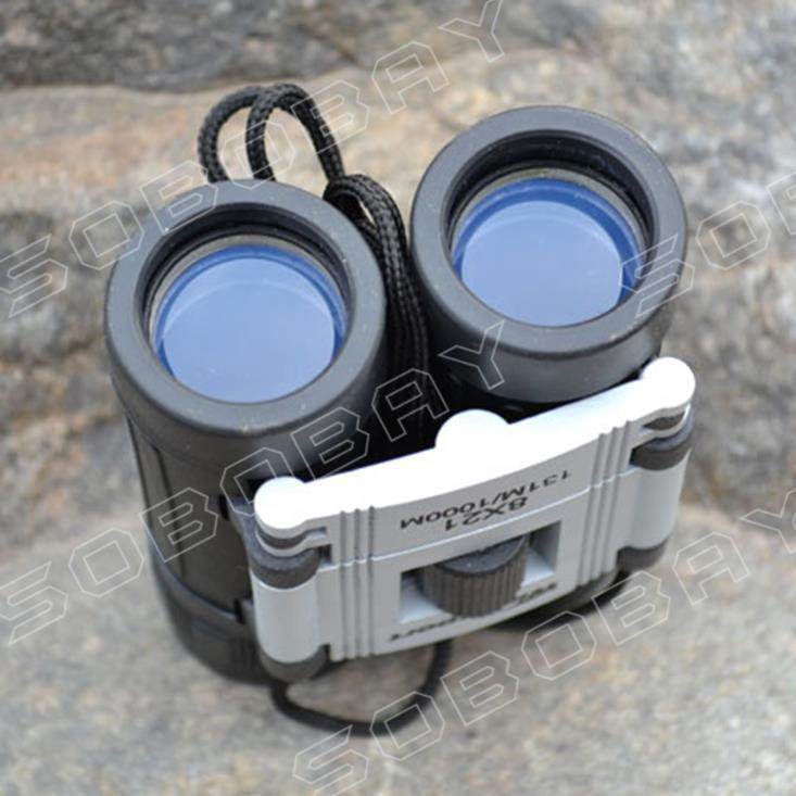 ... 8x21 HD Portable High-powered Binoculars Folded Optical Blue FilmBinoculars BAK4 Prism Zoom Telescope ...