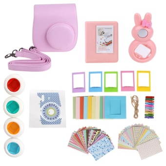 9 in 1 Instant Film Camera Album Bundles Kit Camera Case Bag for Fujifilm Instax Mini 8(Pink) - intl
