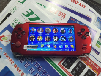 9000+ Free Games 5 Inch 8G PSP Game Player Handheld GBA Consoles Big Screen MP3/MP4/MP5/FM/Camera (Red) - intl