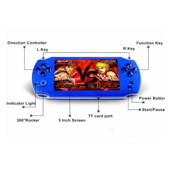 9000+ Free Games Big Screen MP3/MP4/MP5/FM/Camera 5 Inch 8G PSPGame Player Handheld GBA Consoles (Red) - intl - 5