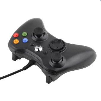 A-K USB Wired Joypa Gamepad Controller For Microsoft Xbox And Slim360 PC Windows #11B (Black) - 2