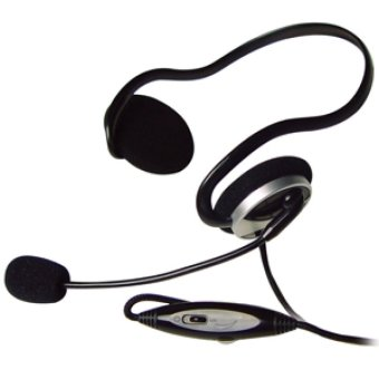 A4TECH HS-5P Internet Headset with Mic (Black)