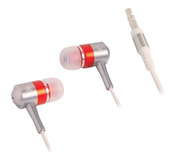 A4Tech MK-650-R Secure Fit Metallic Earphones (Red)