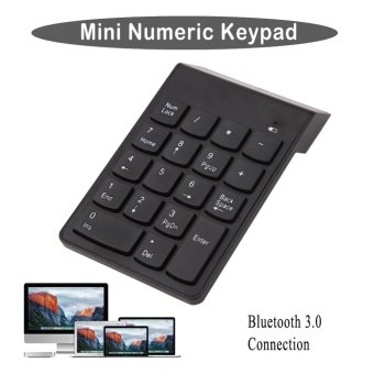 ABS 18 Keys Wireless Bluetooth 3.0 Mini Numeric Keypad Number PadDigital Keypad Ultra Slim For Compute PC Laptop - intl