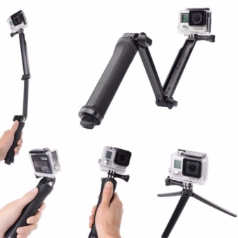 Accessories for Gopro 3-Way Extendable Monopod Pole With Tripod Adapter for Actionn Cameras (Black)
