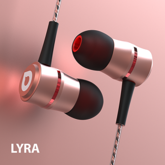 Accutone Lyra 105dB Audio-Balanced Noise-Isolating In-Ear Headsetwith Mic (Rose Gold) Price Philippines