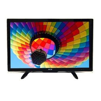"Ace 19"" Super Slim Full HD LED TV Black LED-505 with Tempered Glass"