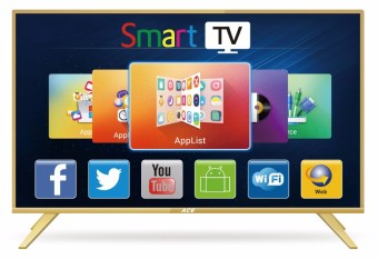 "Ace 32"" Aluminum Slim HD Smart TV Gold LED-808 DK8"