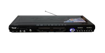 Ace MIDI-8593 Slim Karaoke DVD Player with Games and Radio (Black)