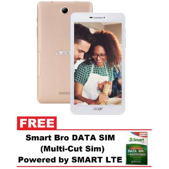 Acer Iconia Talk 7 B1-733 16GB WiFi + 3G with Phone Function Tablet (Ivory Gold) with FREE Smart Bro Data Sim