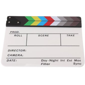 Acrylic Colorful Clapperboard TV Film Movie Slate Cut Role Play Prop Hollywood - Intl