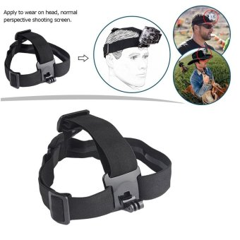 Action Camera Elastic Harness Head Strap Mount for Gopro Hero 5 4 3Session Xiaomi Yi 4K Eken H9 SJCAM SJ4000 Accessories - intl Price Philippines