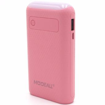 Adamas AAA 20000mah Power Bank Portable Power Battery Pack withFlashlight (White/Gold) With MODEALL M-03 20000mah LCD Display DualPort PowerBank with Flashlight (Pink) - 5