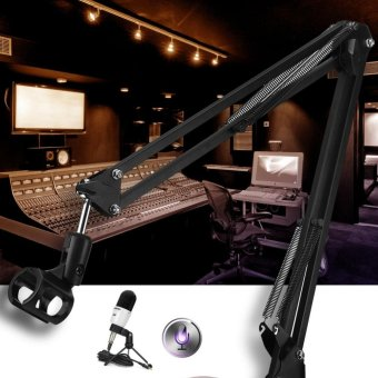Adjustable Professional Recording Stand Mount Holder withMicrophone Clip - intl - 2